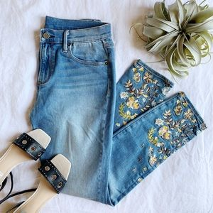 Driftwood Embroidered Floral Jeans 28